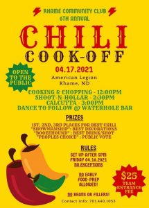Rhame Chili Cook-off @ American Legion