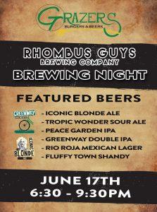 Rhombus Brewing Tasting Event @ Grazers Burgers & Beer